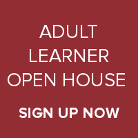 Adult Learner Open House Sign Up
