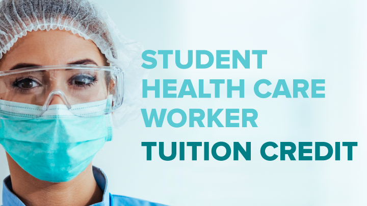 Student healthcare worker tuition credit