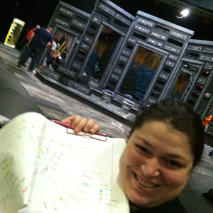 Lindsey-showing-off-her-immaculate-paperwork-for-load-in
