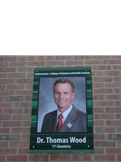 Dr. Thomas Wood in the halls of Greenquist at UWP!