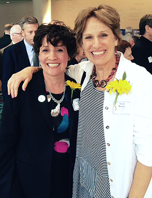 Chancellor Debbie Ford with fellow Women of Influence Award recipient Jean Moran
