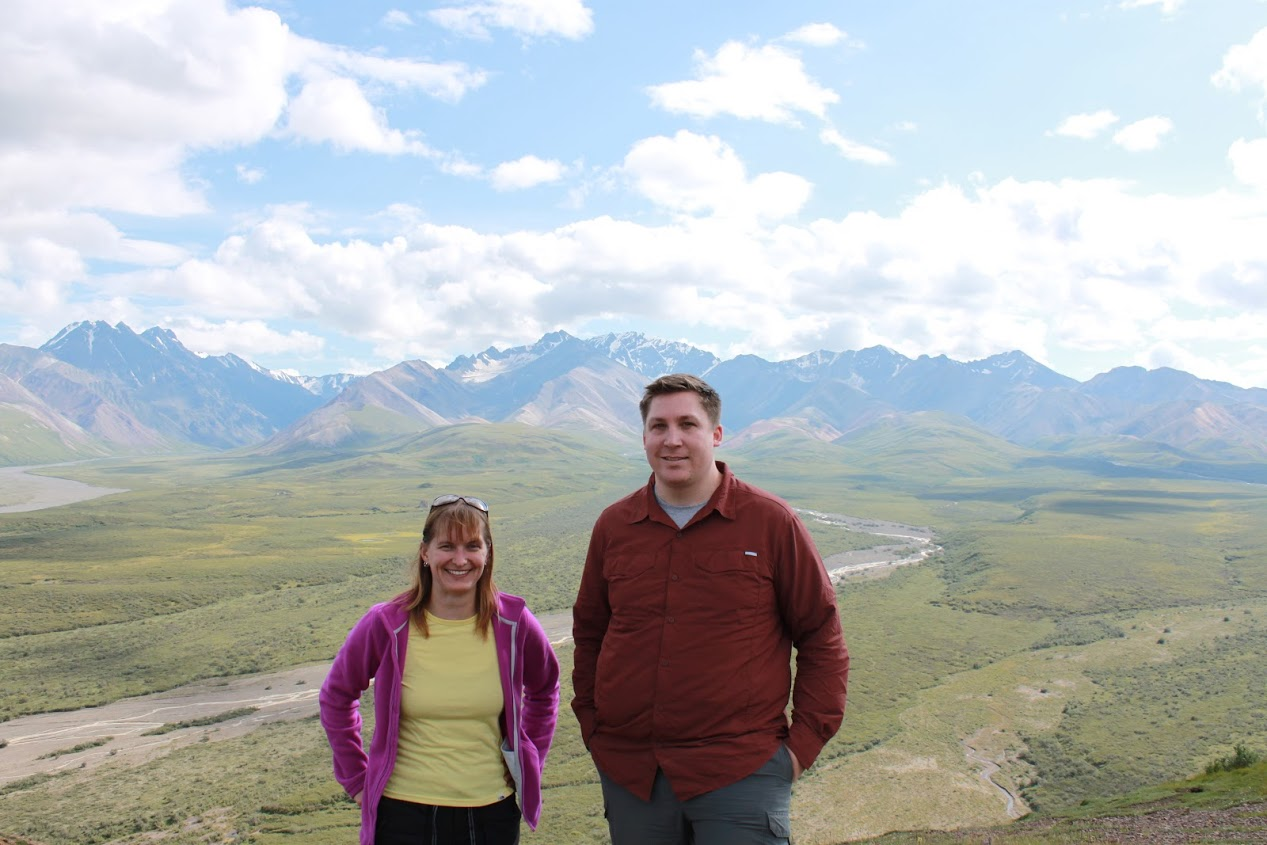 Dr. Headley and Scott Borchardt in Denali National Park
