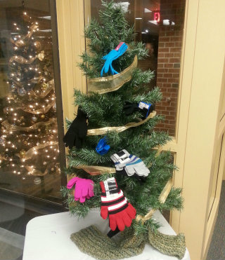Mitten Tree in the Student Center