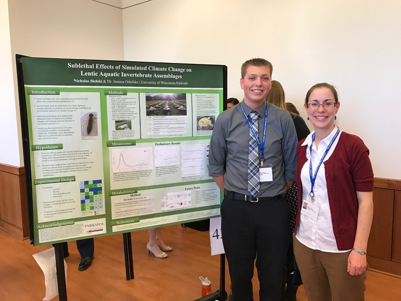 Nick Bielski and Jessica Orlofski, his faculty mentor