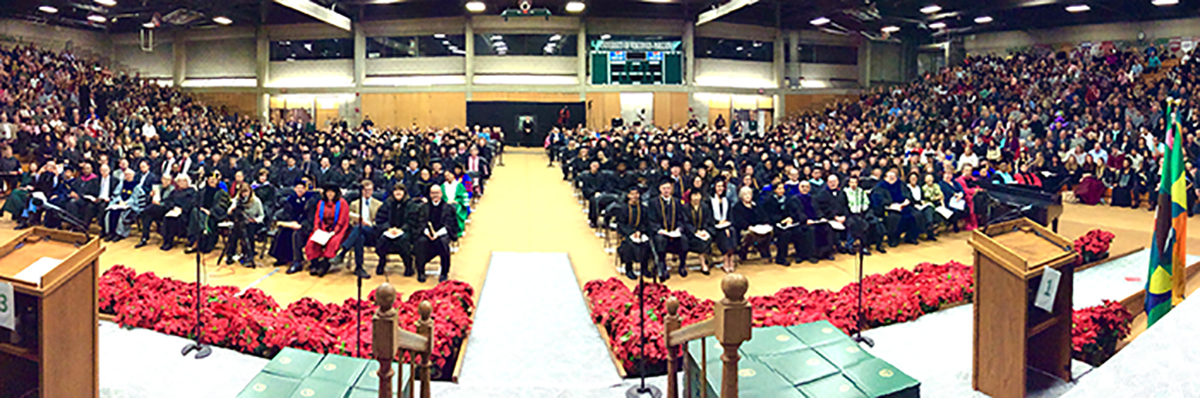 Winter Commencement Pano