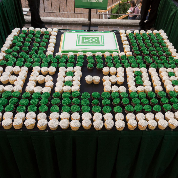 UW-Parkside 50 Years cake