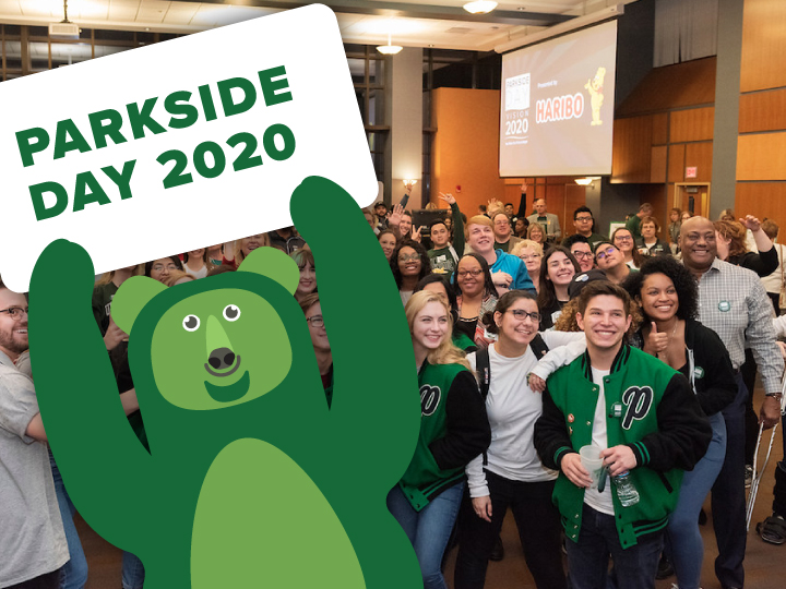 Parkside Day 2020 bear with sign
