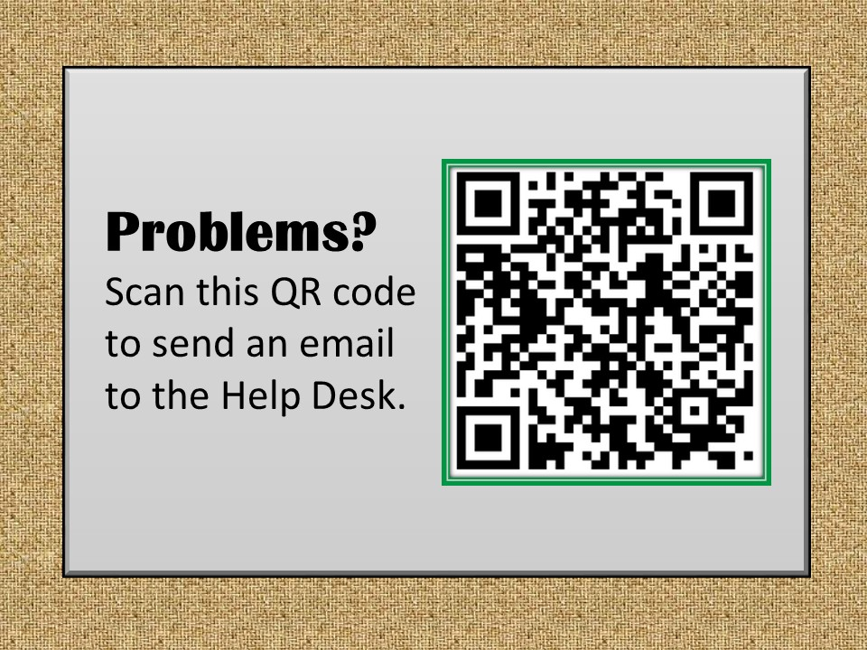 Scan this QR Code to email the Help Desk