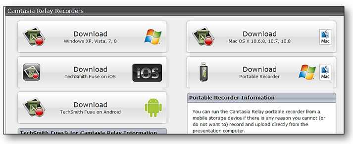 Download recorder compatible with OS