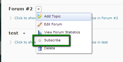 Subscribing to a Topic or Forum