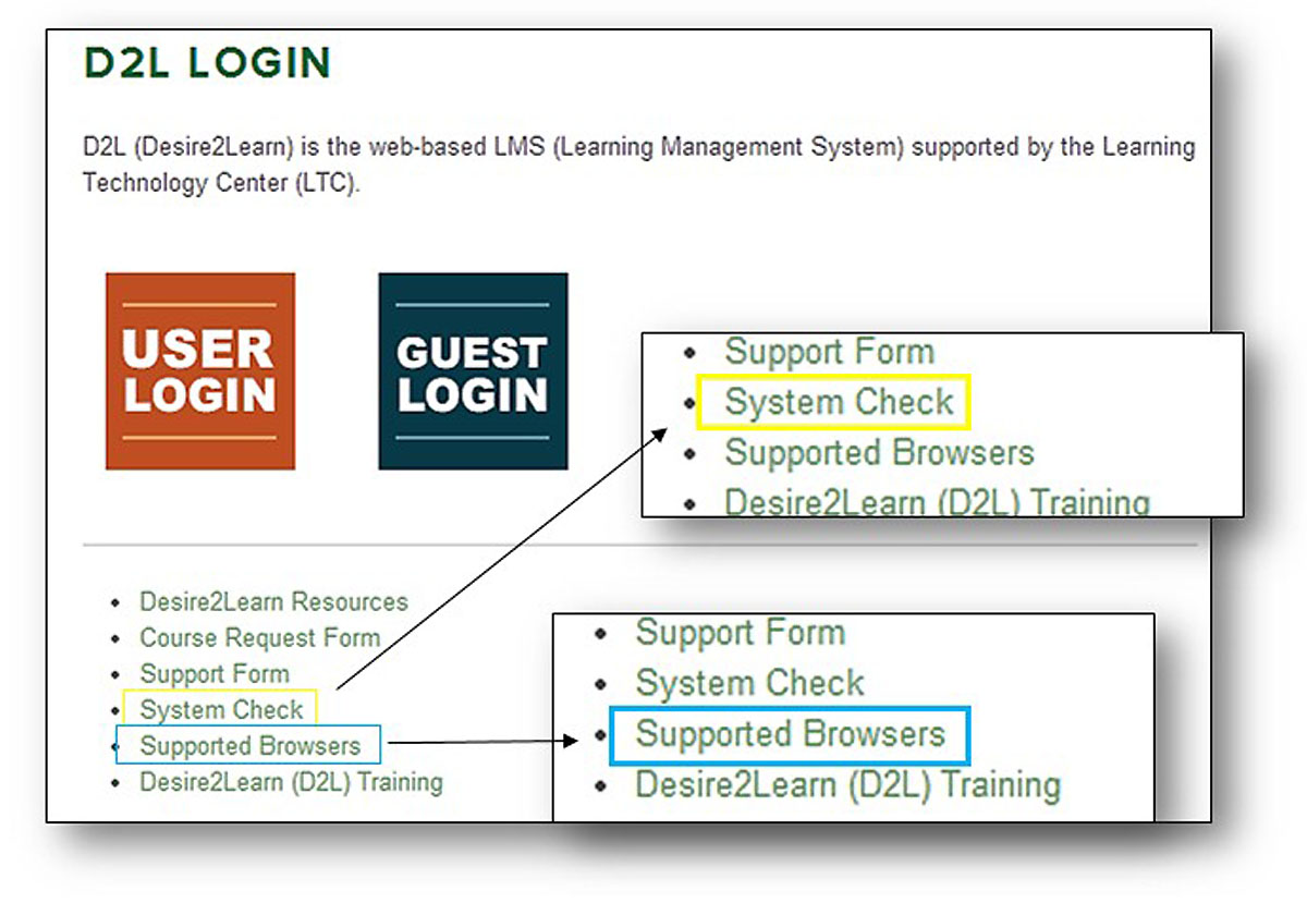 d2l system check image