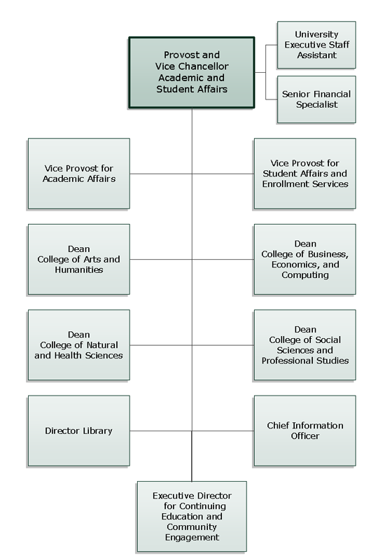 Academic and Student Affairs Org Chart