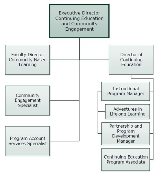 Continuing Education and Community Engagement Organizational Chart