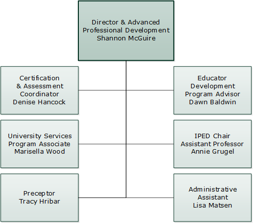 Institute of Professional Educator Development Org Chart
