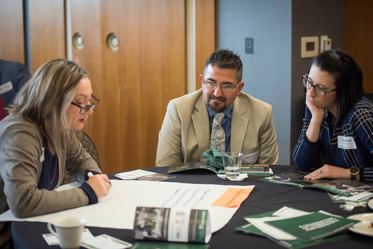 Nonprofit Breakfast attendees brainstorm campus and community partnerships