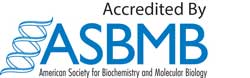 ASBMB accreditation blue color logo