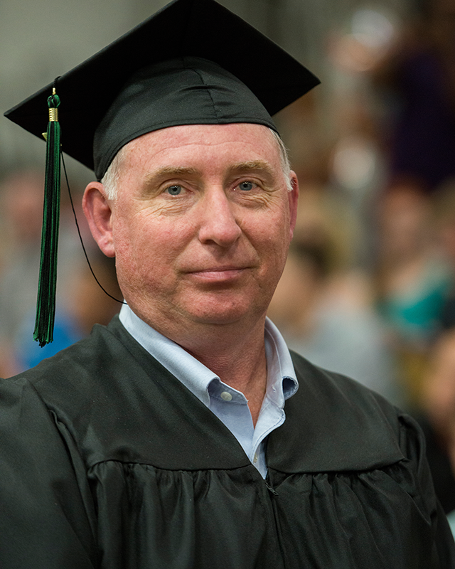 Ed Kubicki at commencement