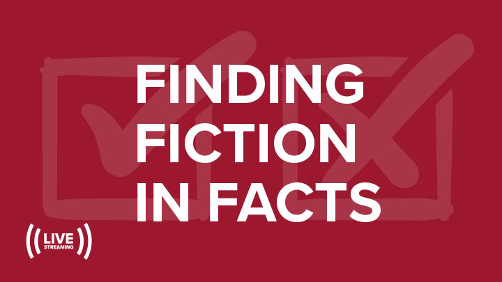 Image with check boxes word Finding fiction in facts
