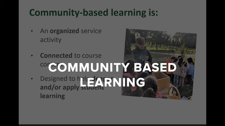 Communication Community Based Learning