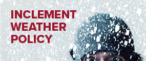 Inclement Weather Policy - man in snow