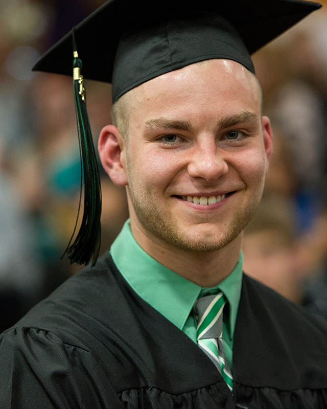 Jake Hansen at commencement