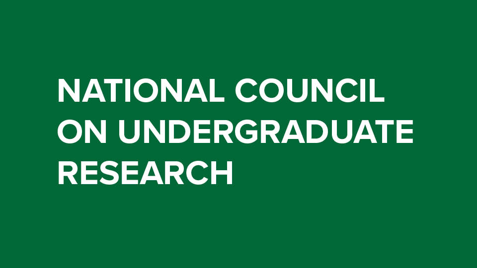 green background with national Conference of Undergraduate Research