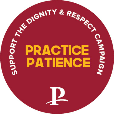 Practice Patience Button