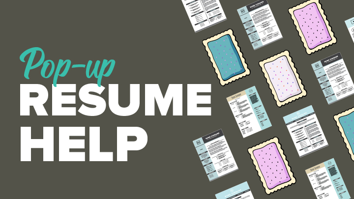 Pop Up Resume