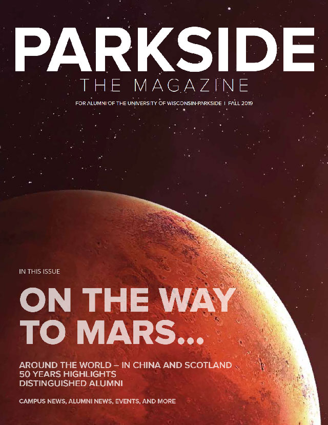 Parkside the Magazine Fall 2019 cover, image of Mars
