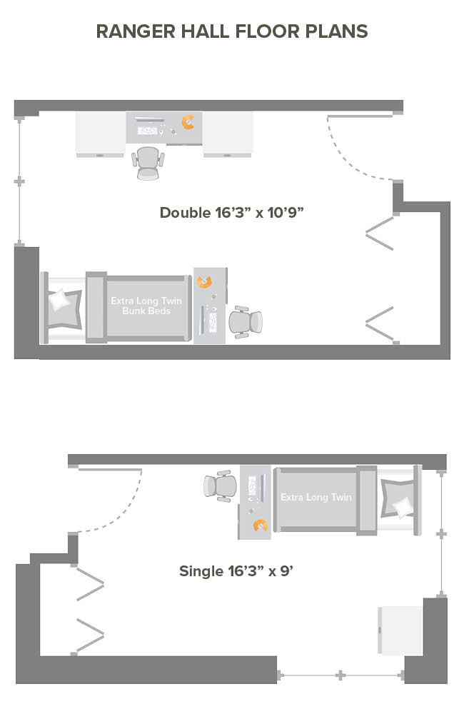 Ranger Hall room floor plans