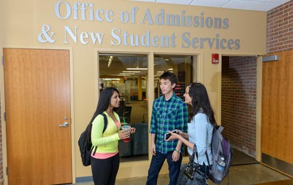 Students by the Admissions Office