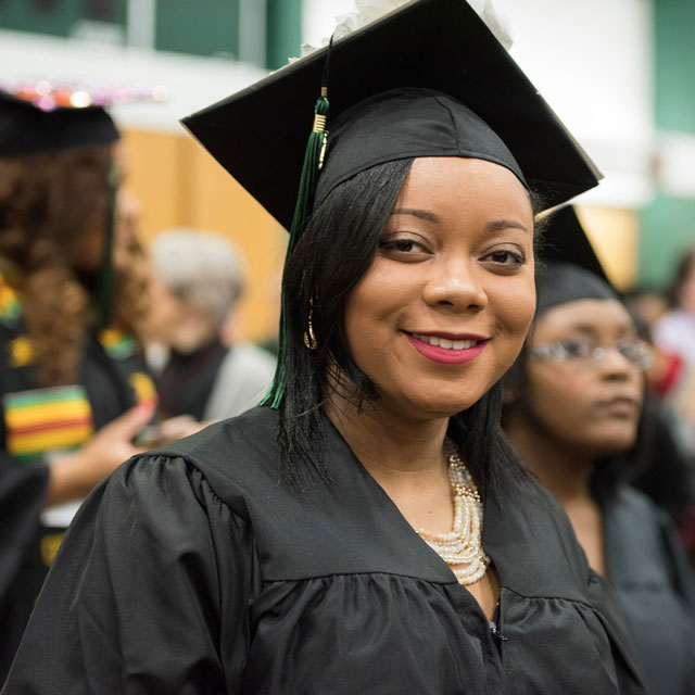 Desarae Saffold at commencement