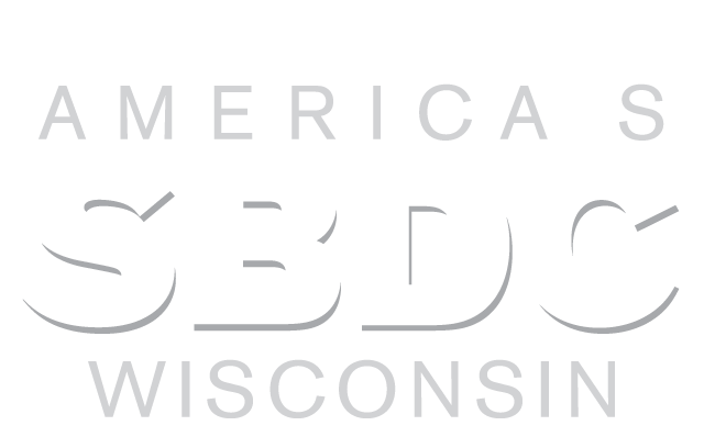 Wisconsin SBDC logo reversed