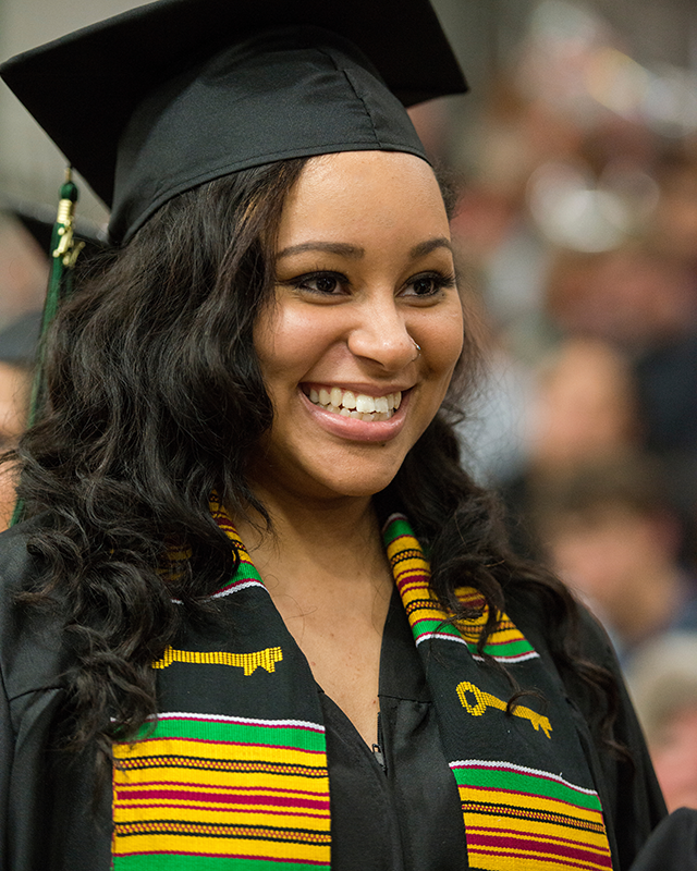 Kamela Burks at commencement