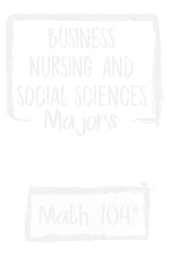Math pathways Math 104 Business, Nursing, and Social Sciences