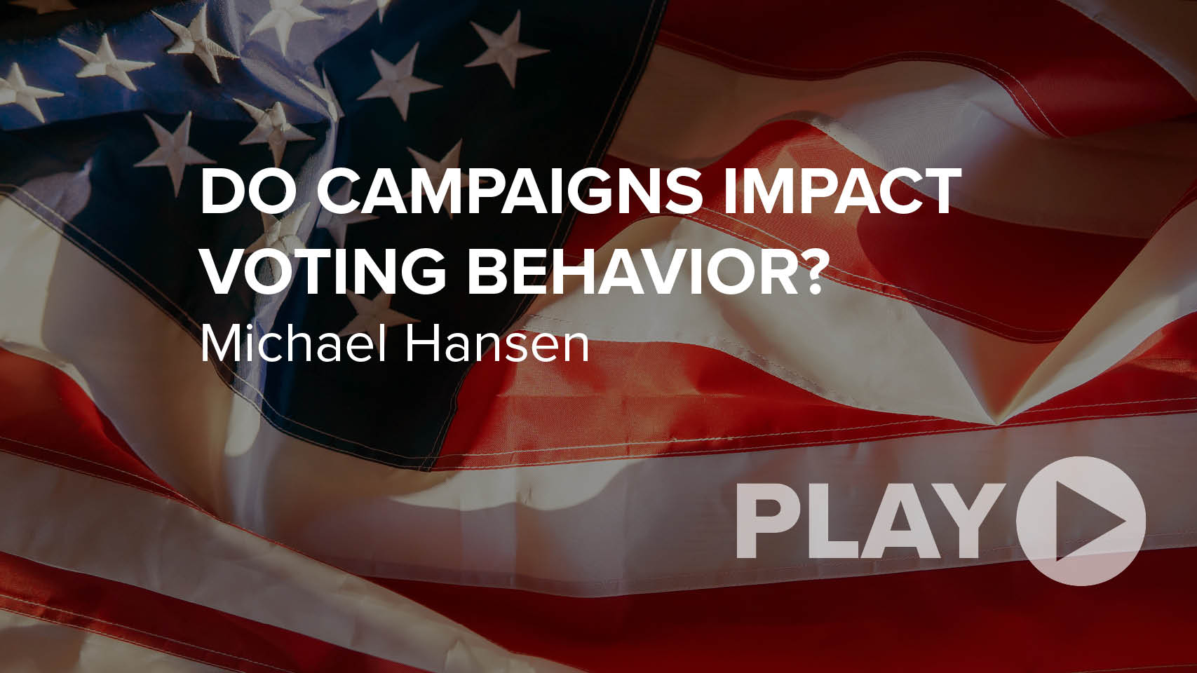 Do Campaigns Impact Voting Behavior?