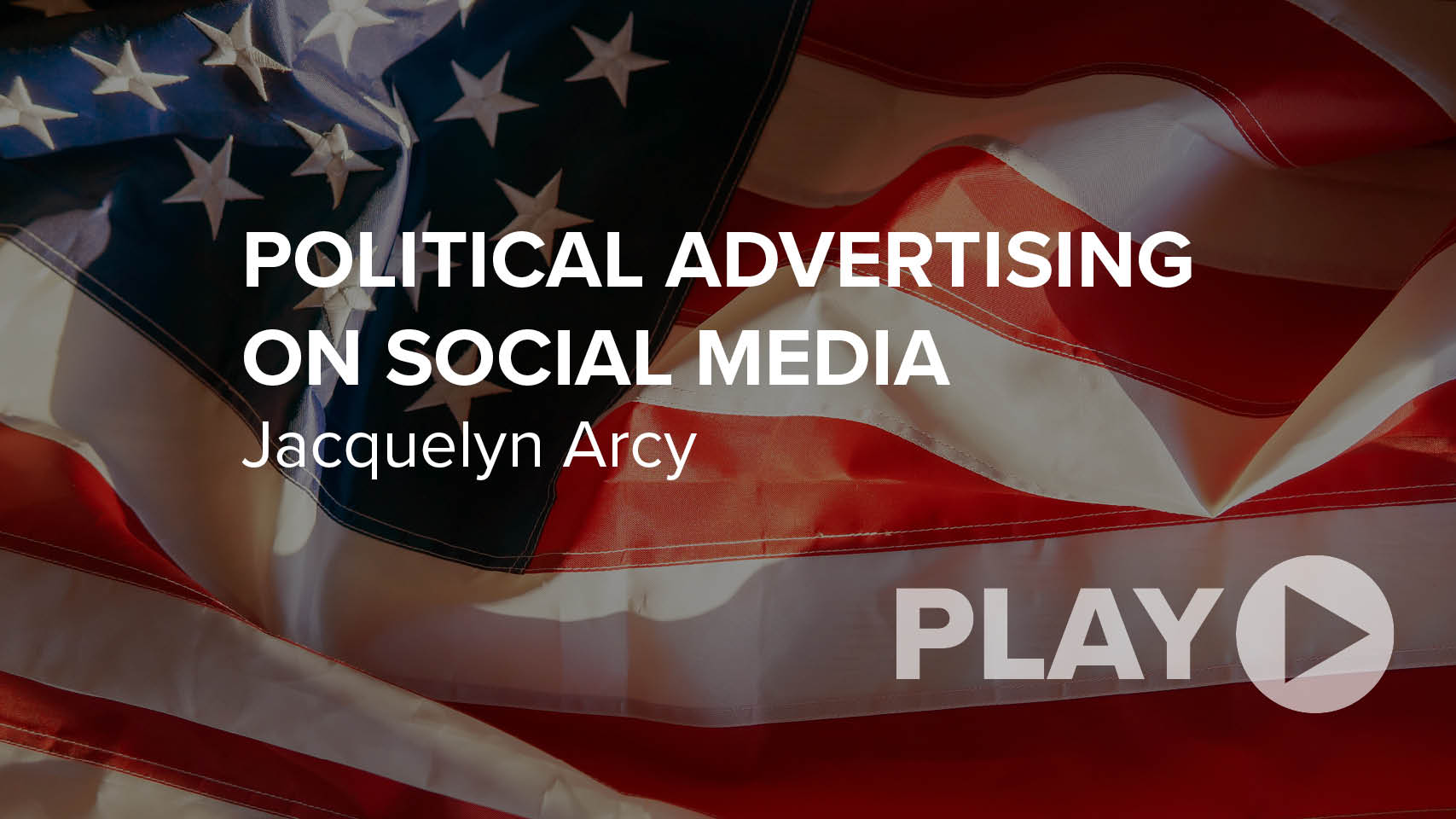 Political Advertising on Social Media