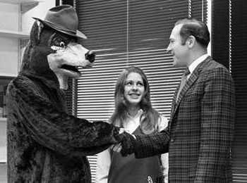 Ranger Bear shaking hands with ...
