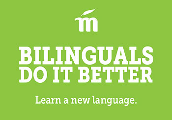 Mango - Bilinguals do it better, Learn a new language.