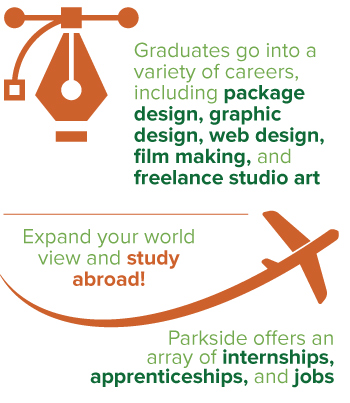 graphic design infographic -- careers, study abroad, internships and jobs