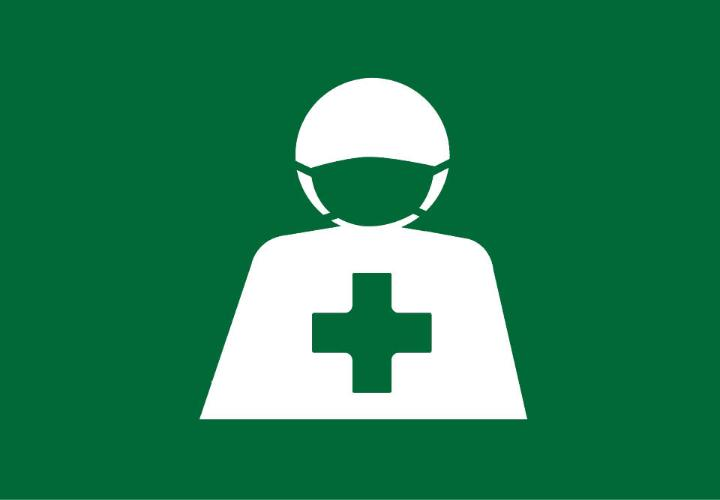 icon of person with medical cross on chest